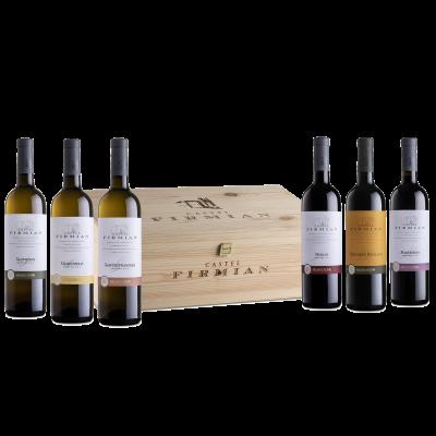 Confezione regalo Castel Firmian in legno da 6 bottiglie